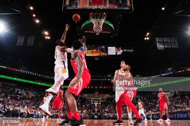 Greg Monroe of the Phoenix Suns dunks against the Houston Rockets on November 16 2017 at Talking Stick Resort Arena in Phoenix Arizona NOTE TO USER...