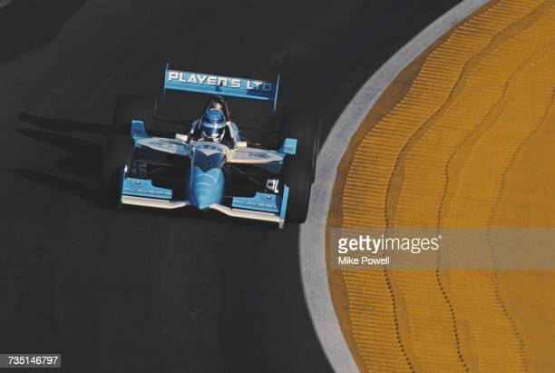 Greg Moore of Canada drives the Player's Forsythe Racing Reynard 96iFord Cosworth during testing for the Championship Auto Racing Teams 1996 PPG Indy...