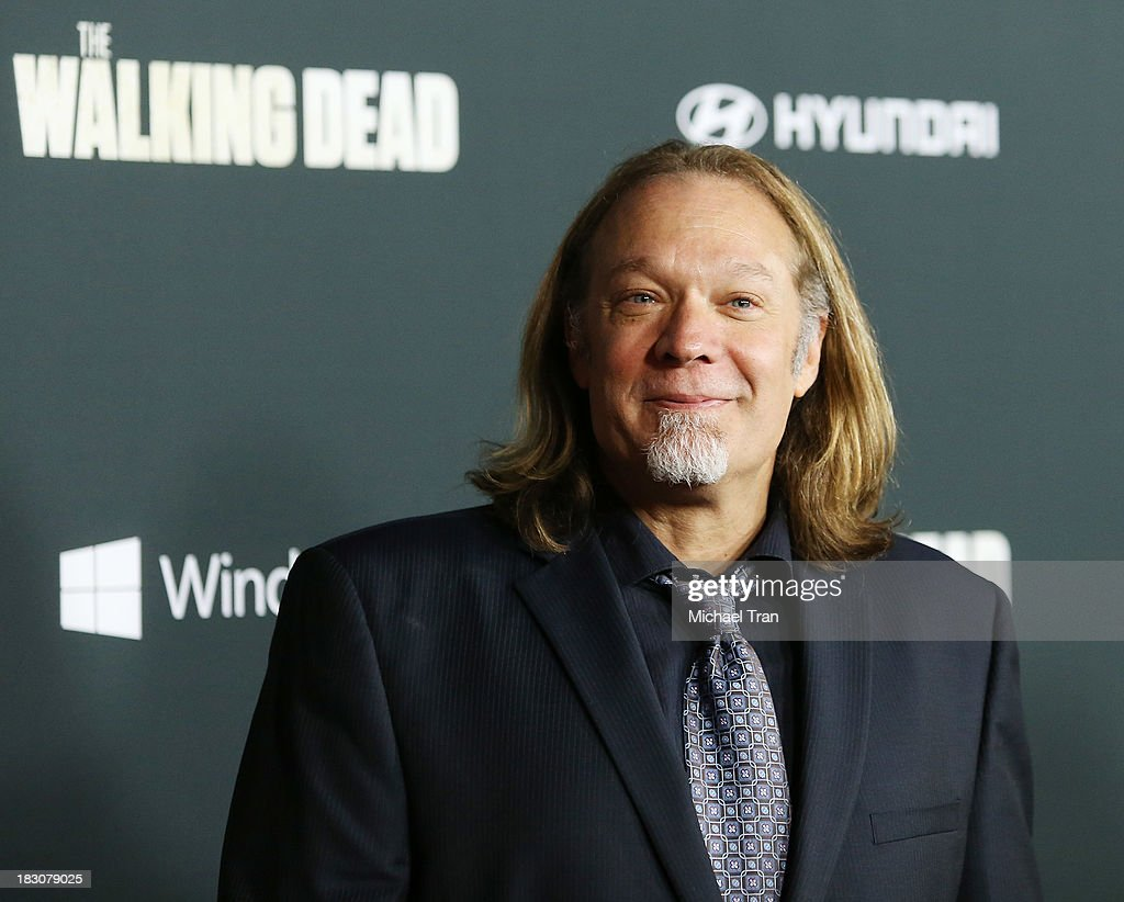 Greg Nicotero arrives at the Los Angeles premiere of AMC's 'The Walking Dead' 4th season held at Universal CityWalk on October 3, 2013 in Universal City, California.