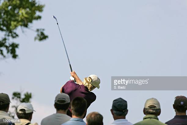 Greg Norman in action during the third round of the U S Senior Open July 30 held at the NCR Country Club Kettering Ohio