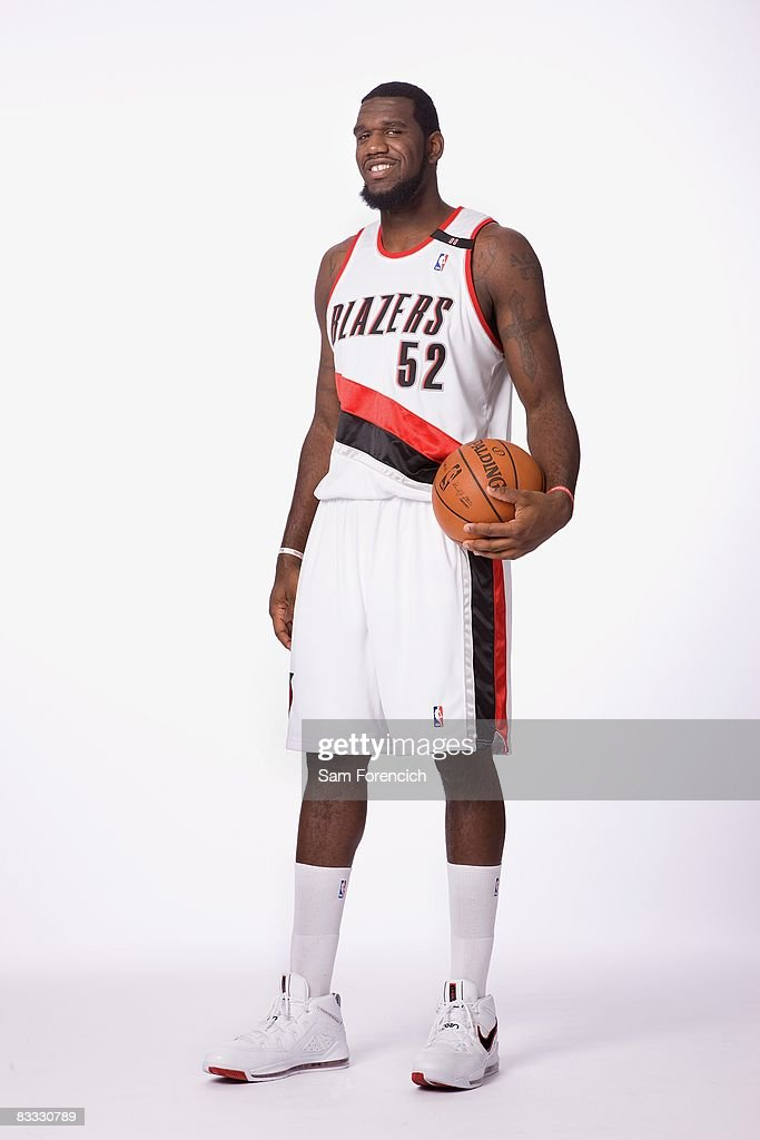 Greg Oden #52 of the Portland Trail Blazers poses for a portrait during NBA Media Day on September 29, 2008 at the Rose Garden Arena in Portland, Oregon.