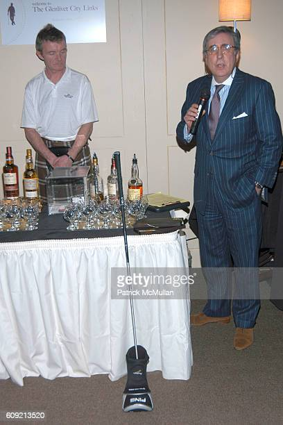 Greg O'Donovan and Sandy Neiman attend SCOTCH WHISKY GOLF Hosted by The Wall Street Journal Paul Staurt at The Glenlivet City Links on February 9...