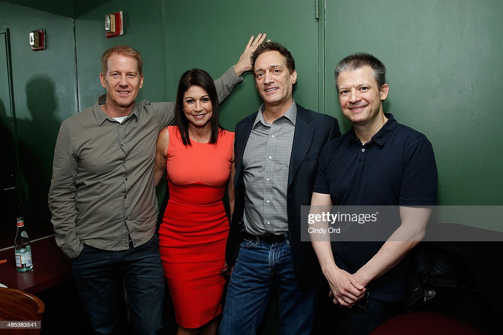 Greg 'Opie' Hughes, <a gi-track='captionPersonalityLinkClicked' href=/galleries/search?phrase=Caroline+Hirsch&family=editorial&specificpeople=581571 ng-click='$event.stopPropagation()'>Caroline Hirsch</a>, <a gi-track='captionPersonalityLinkClicked' href=/galleries/search?phrase=Anthony+Cumia&family=editorial&specificpeople=6345627 ng-click='$event.stopPropagation()'>Anthony Cumia</a> and Jim Norton Attends the SiriusXM's O&A20: Unmasked With Opie & Anthony Special Celebrates 20 Years Of Opie & Anthony at Carolines On Broadway on April 17, 2014 in New York City.