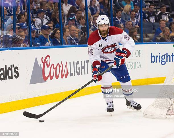 Greg Pateryn of the Montreal Canadiens against the Tampa Bay Lightning in Game Four of the Eastern Conference Semifinals during the 2015 NHL Stanley...