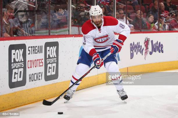 Greg Pateryn of the Montreal Canadiens in action during the first period of the NHL game against the Arizona Coyotes at Gila River Arena on February...