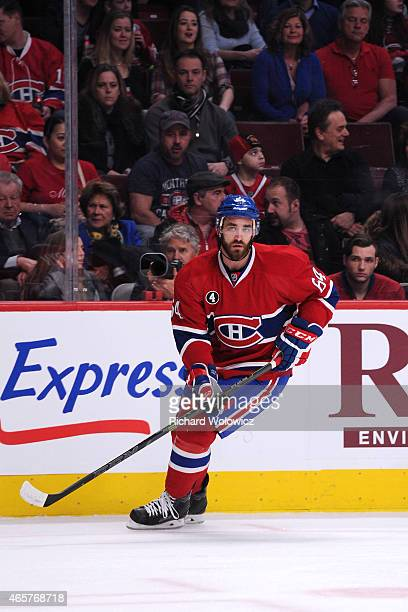 Greg Pateryn of the Montreal Canadiens skates during the NHL game against the Toronto Maple Leafs at the Bell Centre on January 17 2015 in Montreal...