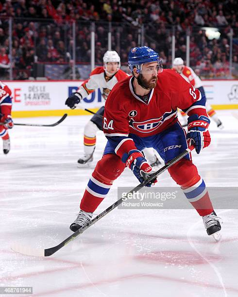 Greg Pateryn of the Montreal Canadiens skates during the NHL game against the Florida Panthers at the Bell Centre on March 28 2015 in Montreal Quebec...