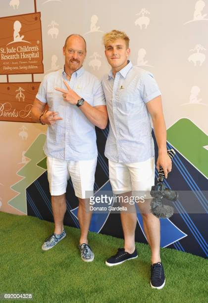Greg Paul and Jake Paul at the Brooks Brothers Beverly Hills summer camp party benefitting St Jude Children's Research Hospital at Brooks Brothers...