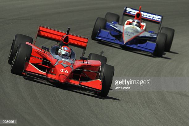 Greg Ray drives the Trim Spa Honda GForce during the IRL IndyCar Series Honda Indy 225 on June 15 2003 at the Pikes Peak International Raceway in...