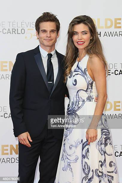 Greg Rikaart and Amelia Heinle attend the Closing Ceremony and Golden Nymph Awards of the 54th Monte Carlo TV Festival on June 11 2014 in MonteCarlo...