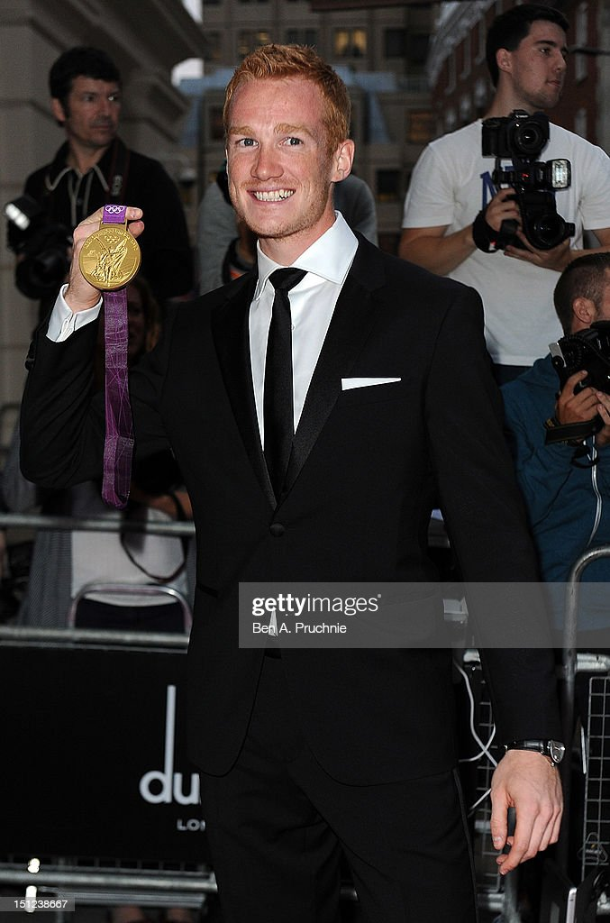 Greg Rutherford attends the GQ Men of the Year Awards 2012 at The Royal Opera House on September 4, 2012 in London, England.