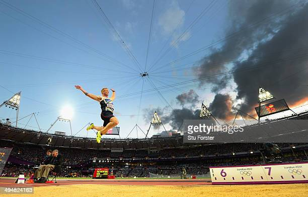 Greg Rutherford of Great Britain competes in the Men's Long Jump Final on Day 8 of the London 2012 Olympic Games at Olympic Stadium on August 4 2012...