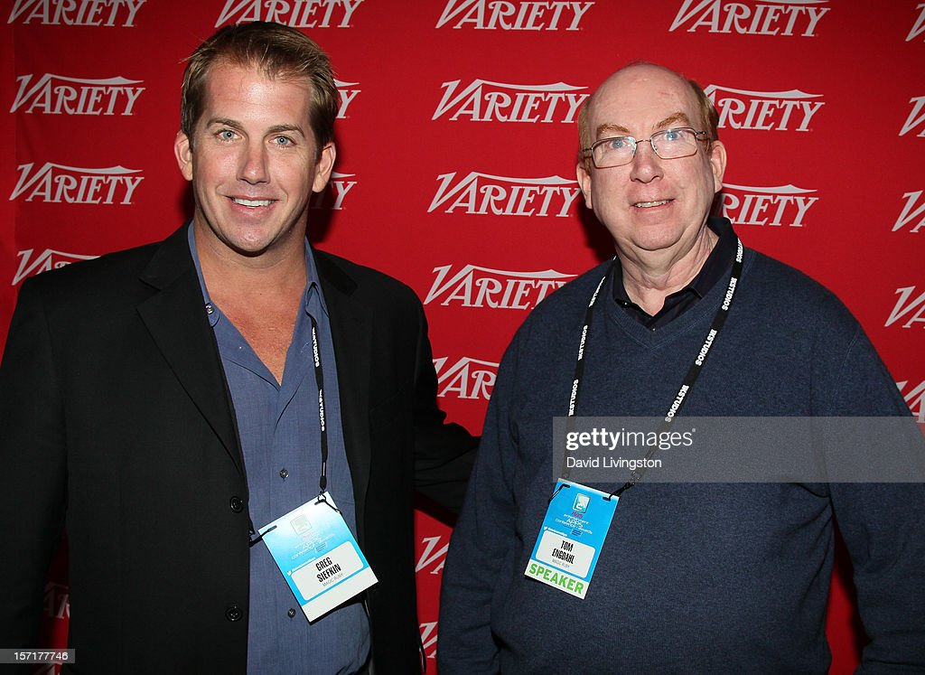 Greg Siefkin of Magic Ruby and Tom Engdahl, President & CEO, Magic Ruby, attend Variety's Entertainment Apps Conference in Association with Application Developers Alliance at Sheraton Hotel on November 29, 2012 in Universal City, California.