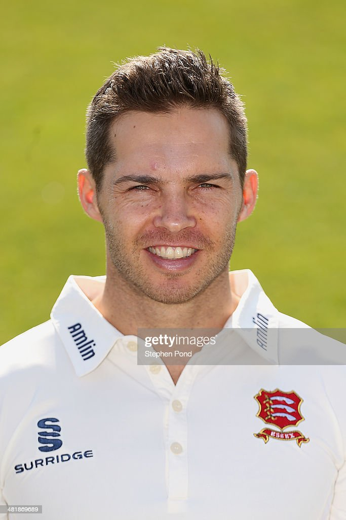 Greg Smith of Essex poses during the Essex County Cricket Club Photocall at the County Ground on April 1 2014 in Chelmsford England