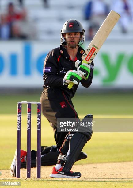 Greg Smith of Leicestershire Foxes during The Natwest T20 Blast match between Durham Jets and Leicestershire Foxes at The Emirates Durham ICG on June...