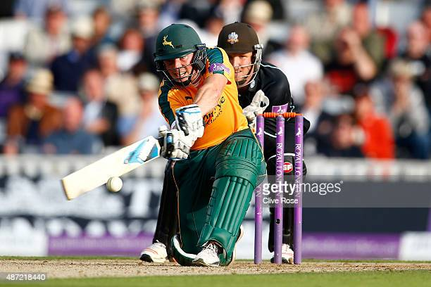 Greg Smith of Nottinghamshire in action during the Royal London OneDay Cup Semi Final between Surrey and Nottinghamshire at The Kia Oval on September...