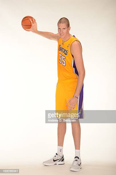 Greg Somogyi of the Los Angeles Lakers poses for a photo during Media Day at Toyota Sports Center on October 1 2012 in El Segundo California NOTE TO...