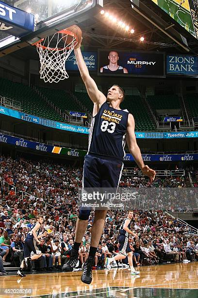 Greg Somogyi of the Utah Jazz shoots during an open scrimmage at Energy Solutions Arena on July 8 2014 in Salt Lake City Utah NOTE TO USER User...
