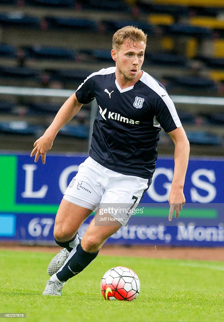 Greg Stewart for Dundee at the Pre Season Friendly between Dundee and Everton at Dens Park on July 28 2015 in Dundee Scotland