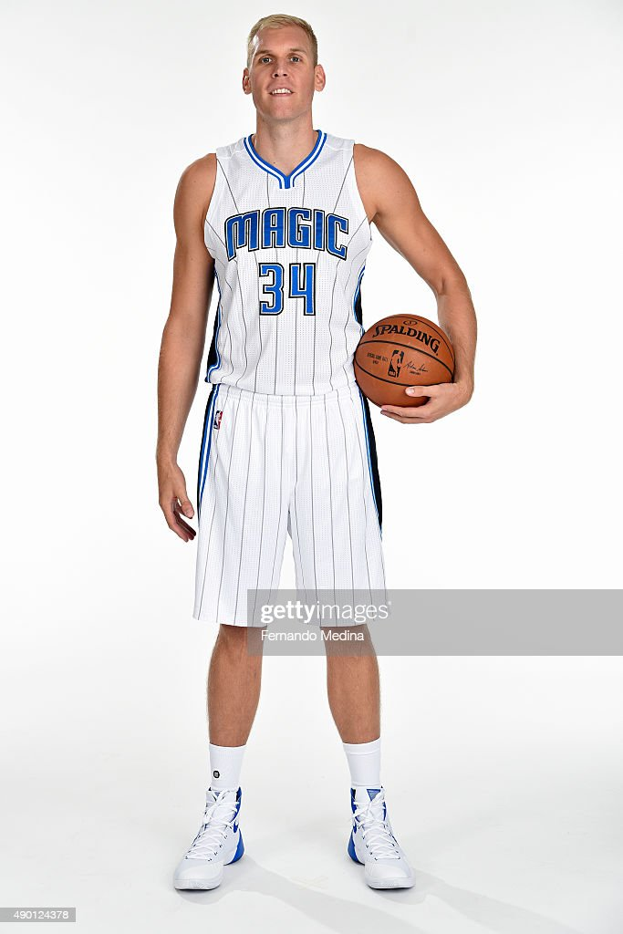Greg Stiemsma of the Orlando Magic poses for a portrait during NBA Media Day on September 25 2015 at Amway Center in Orlando Florida NOTE TO USER...