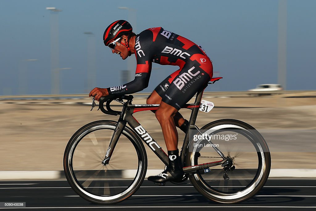 Greg Van Avermaet of Belgium and the BMC Racing Team in action on stage three of the 2016 Tour of Qatar a 114km Individual Time Trial at Lusail...