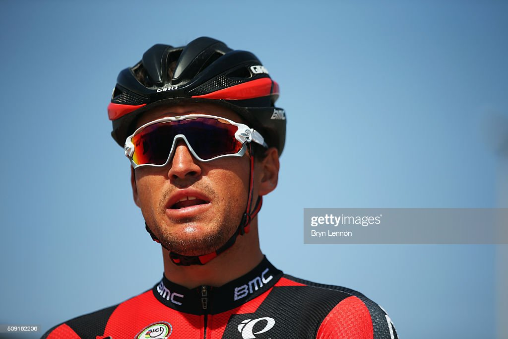 Greg van Avermaet of Belgium and the BMC Racing team looks on at the start of stage two of the 2016 Tour of Qatar from Qatar University to Qatar Univeristy on February 9, 2016 in Doha, Qatar. The stage also serves as a test event for the World Road Race Championships which will be held in Doha in October.