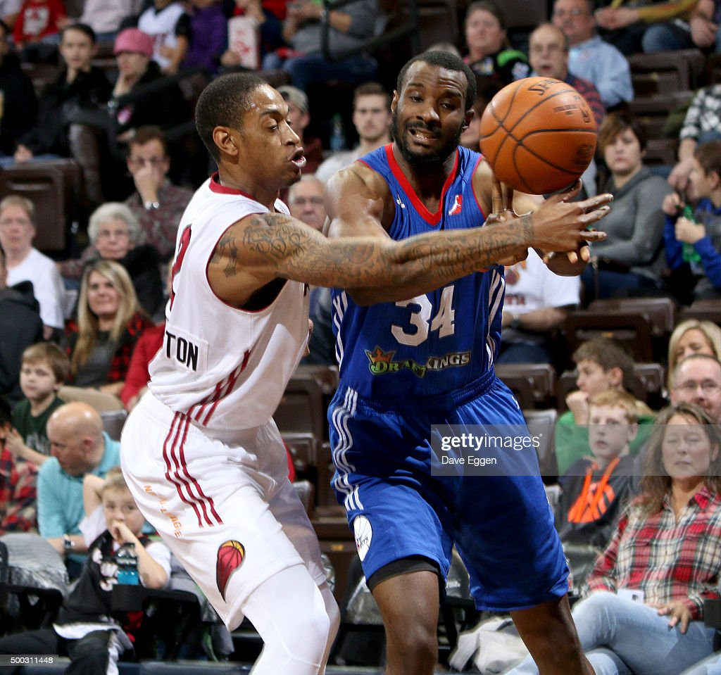 <a gi-track='captionPersonalityLinkClicked' href=/galleries/search?phrase=Greg+Whittington&family=editorial&specificpeople=7636075 ng-click='$event.stopPropagation()'>Greg Whittington</a> #2 from the Sioux Falls Skyforce battles for the loose ball against <a gi-track='captionPersonalityLinkClicked' href=/galleries/search?phrase=Gani+Lawal&family=editorial&specificpeople=4215934 ng-click='$event.stopPropagation()'>Gani Lawal</a> #34 from the Delaware 87ers at the Sanford Pentagon December 5, 2015 in Sioux Falls, South Dakota.