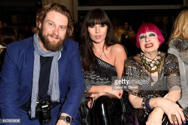 Greg Williams Grace Woodward and Zandra Rhodes attend the Temperley London FW 17 Fashion Show on February 19 2017 in London England