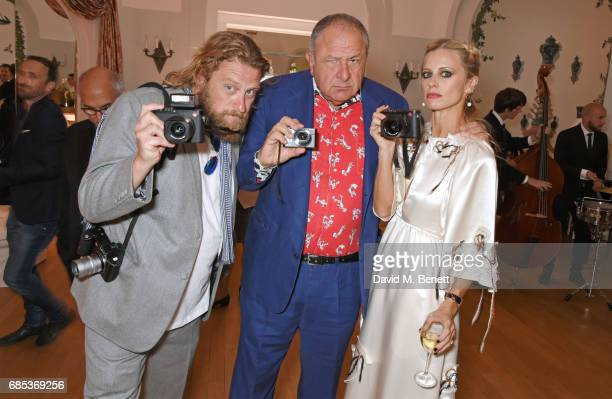 Greg Williams Jean Pigozzi and Laura Bailey attend The 9th Annual Filmmakers Dinner hosted by Charles Finch and JaegerLeCoultre at Hotel du...