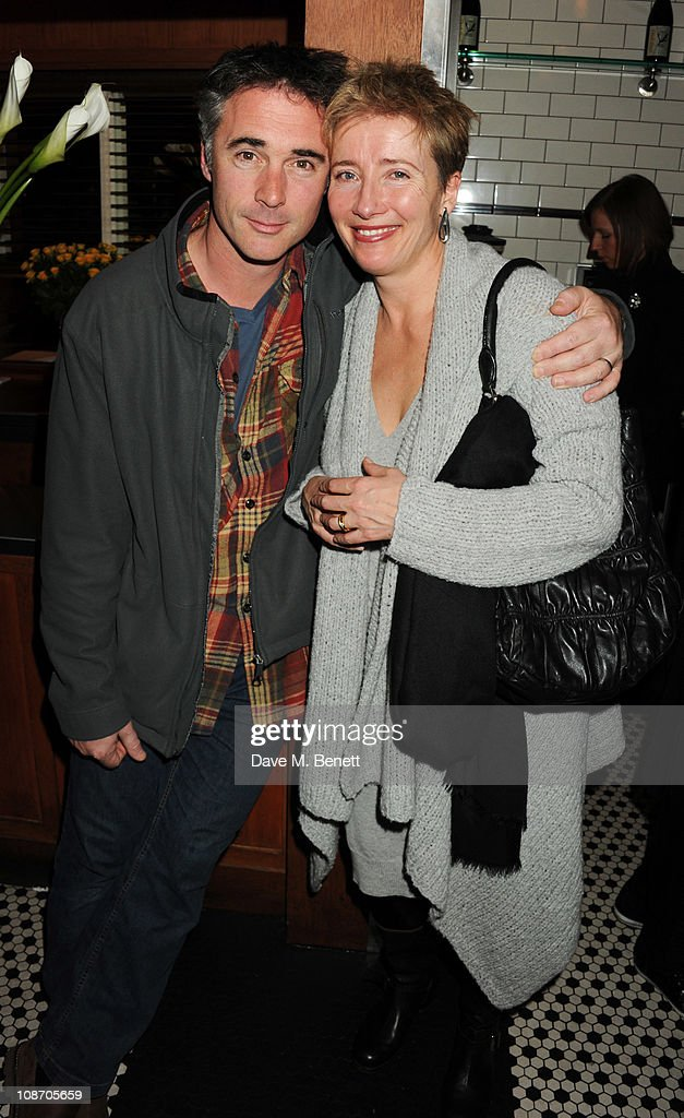 Greg Wise and Emma Thompson attend the Chucs Dive & Mountain Shop Launch Party at Automat on February 1, 2011 in London, England.