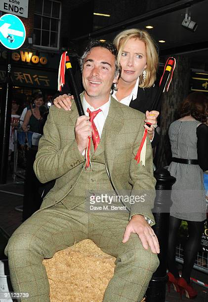 Greg Wise and Emma Thompson attend the UK Premiere of 'Morris A Life With Bells On' at the Prince Charles Cinema on September 24 2009 in London...