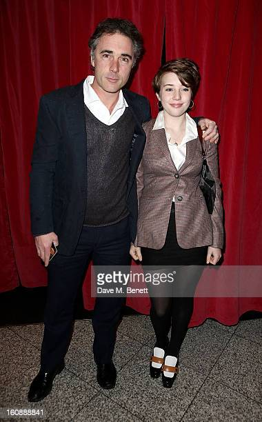 Greg Wise and Gaia Wise attend the UK Premiere of 'A Good Day To Die Hard' at Empire Leicester Square on February 7 2013 in London England