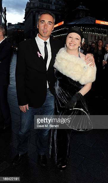 Greg Wise and his sister Claire attend the Closing Night Gala European Premiere of 'Saving Mr Banks' during the 57th BFI London Film Festival at...