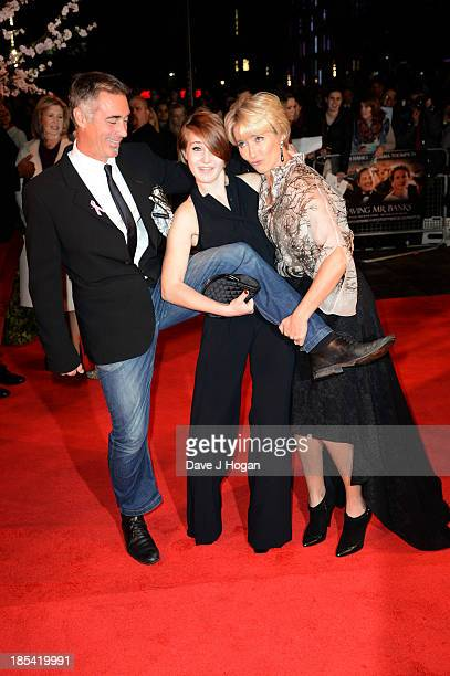 Greg Wise Gaia Romilly Wise and Emma Thompson attend the Closing Night Gala European Premiere of 'Saving Mr Banks' on the closing night gala during...