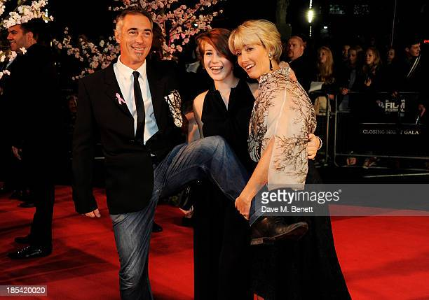 Greg Wise Gaia Wise and Emma Thompson attend the Closing Night Gala European Premiere of 'Saving Mr Banks' during the 57th BFI London Film Festival...
