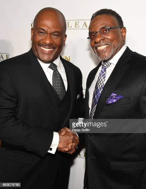 GregAlan Williams and Keith David attend 'Greenleaf' Season 2 Premiere Party at W Atlanta Midtown on March 13 2017 in Atlanta Georgia
