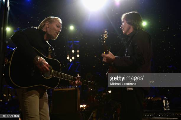 Gregg Allman and Jackson Browne perform during All My Friends Celebrating the Songs Voice of Gregg Allman at The Fox Theatre on January 10 2014 in...