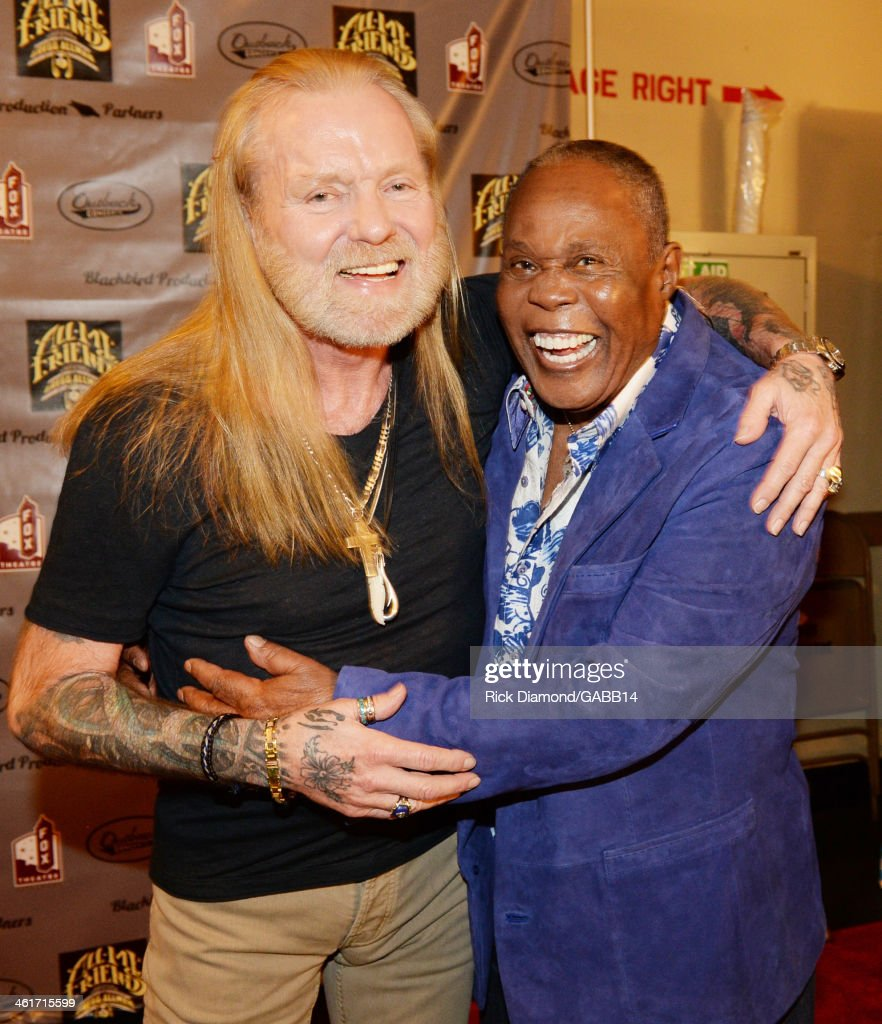 Gregg Allman and Sam Moore attend All My Friends: Celebrating the Songs & Voice of Gregg Allman at The Fox Theatre on January 10, 2014 in Atlanta, Georgia.