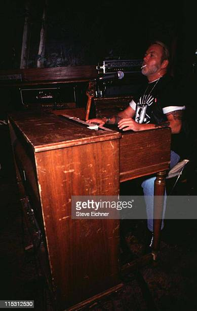 Gregg Allman of the Allman Brothers Band during Allman Brothers at Wetlands 1992 at Wetlands in New York City New York United States