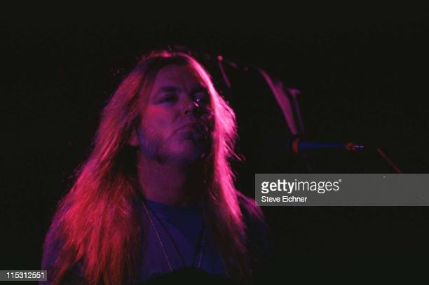 Gregg Allman of the Allman Brothers Band during Allman Brothers at Wetlands 1993 at Wetlands in New York City New York United States