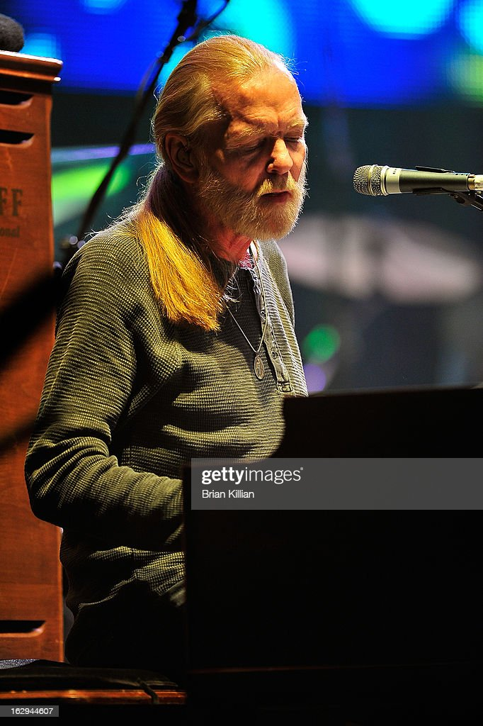 <a gi-track='captionPersonalityLinkClicked' href=/galleries/search?phrase=Gregg+Allman&family=editorial&specificpeople=741073 ng-click='$event.stopPropagation()'>Gregg Allman</a> of The Allman Brothers Band performs at Beacon Theatre on March 1, 2013 in New York City.