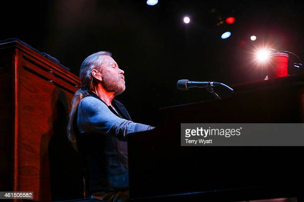 Gregg Allman performs at the Ryman Auditorium on January 13 2015 in Nashville Tennessee
