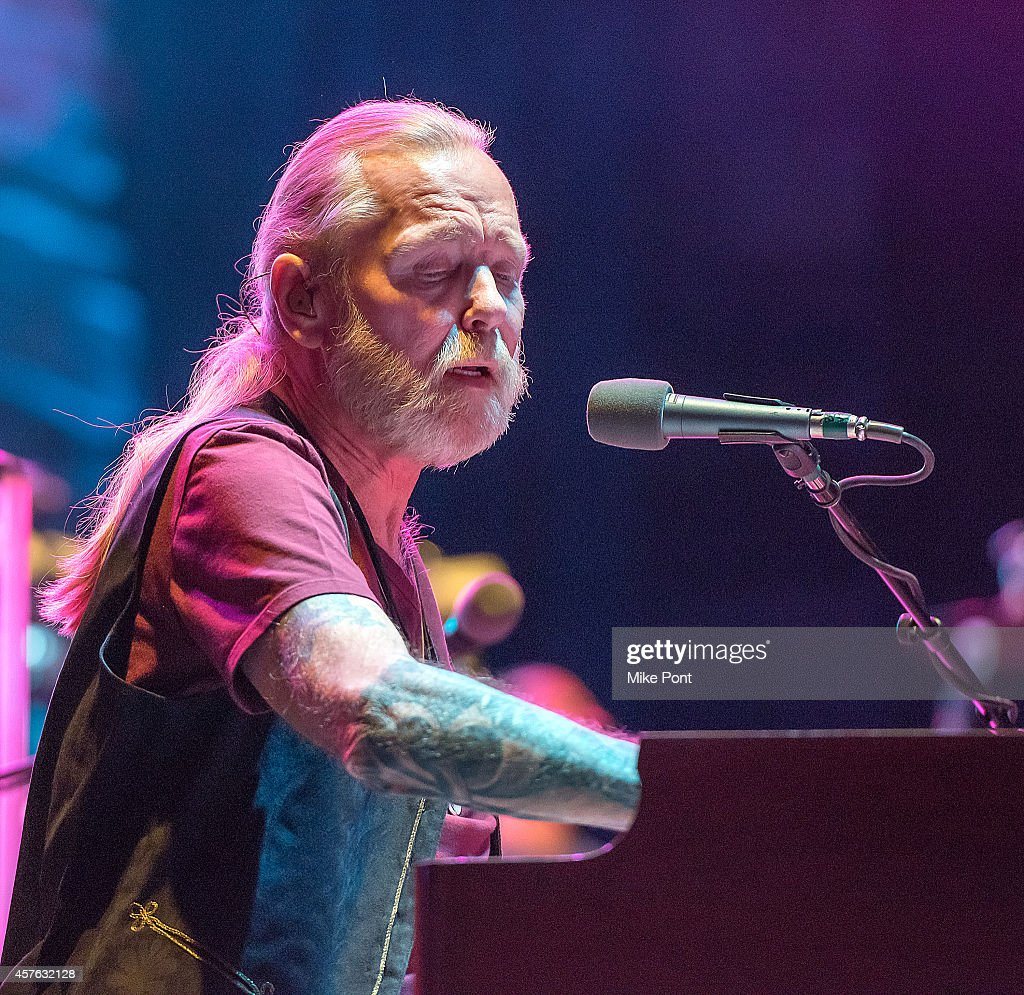 Gregg Allman performs during the Allman Brothers Band In Concert at Beacon Theatre on October 21, 2014 in New York City.