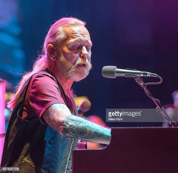 Gregg Allman performs during the Allman Brothers Band In Concert at Beacon Theatre on October 21 2014 in New York City