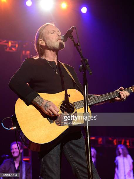 Gregg Allman performs on stage during 'Love For Levon' Benefit To Save The Barn at Izod Center on October 3 2012 in East Rutherford New Jersey