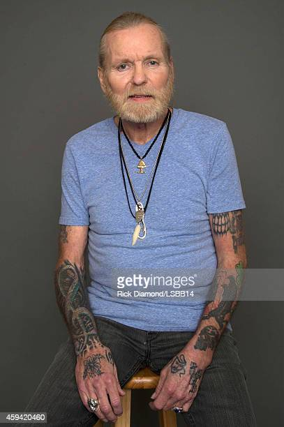 Gregg Allman poses backstage at One More For The Fans Celebrating the Songs Music of Lynyrd Skynyrd at The Fox Theatre on November 12 2014 in Atlanta...