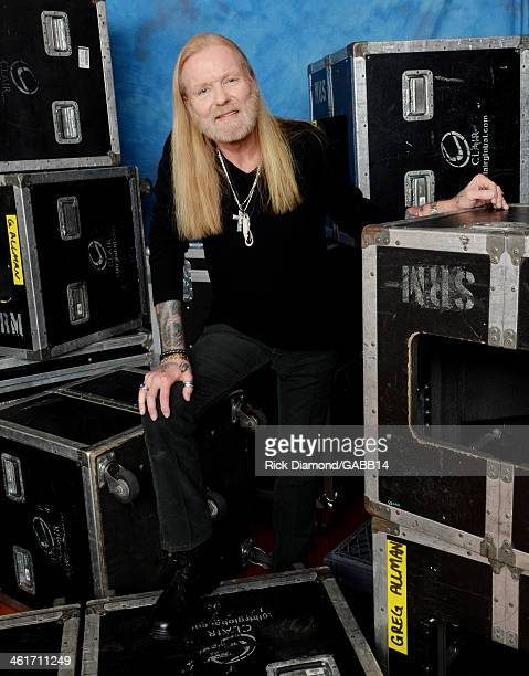 Gregg Allman poses for a portrait at All My Friends Celebrating the Songs Voice of Gregg Allman at The Fox Theatre on January 10 2014 in Atlanta...