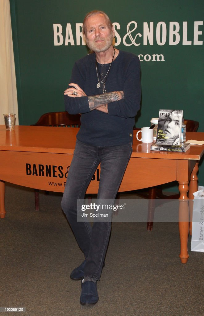 Gregg Allman promotes 'My Cross To Bear' at Barnes & Noble, 5th Avenue on March 4, 2013 in New York City.