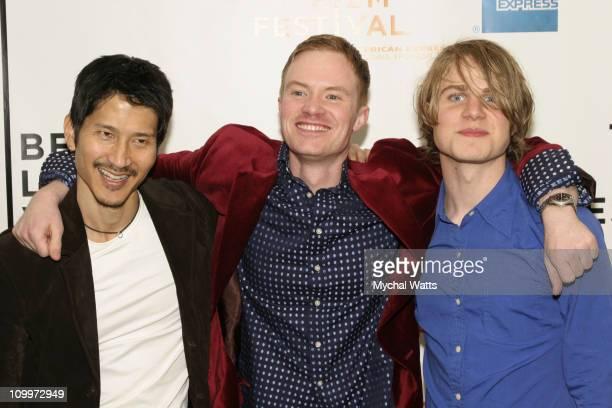 Gregg Araki director with Scott Heim writer and Brady Corbet
