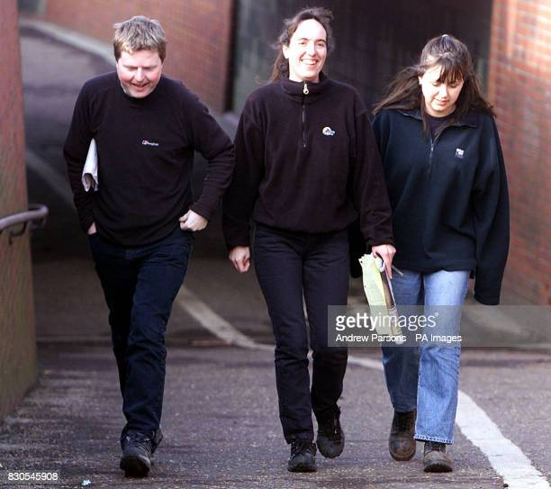 Gregg Avery Natasha Dallemange and Heather Avery three of the Huntingdon Life Sciences protesters accused of inciting others to cause a nuisance at...
